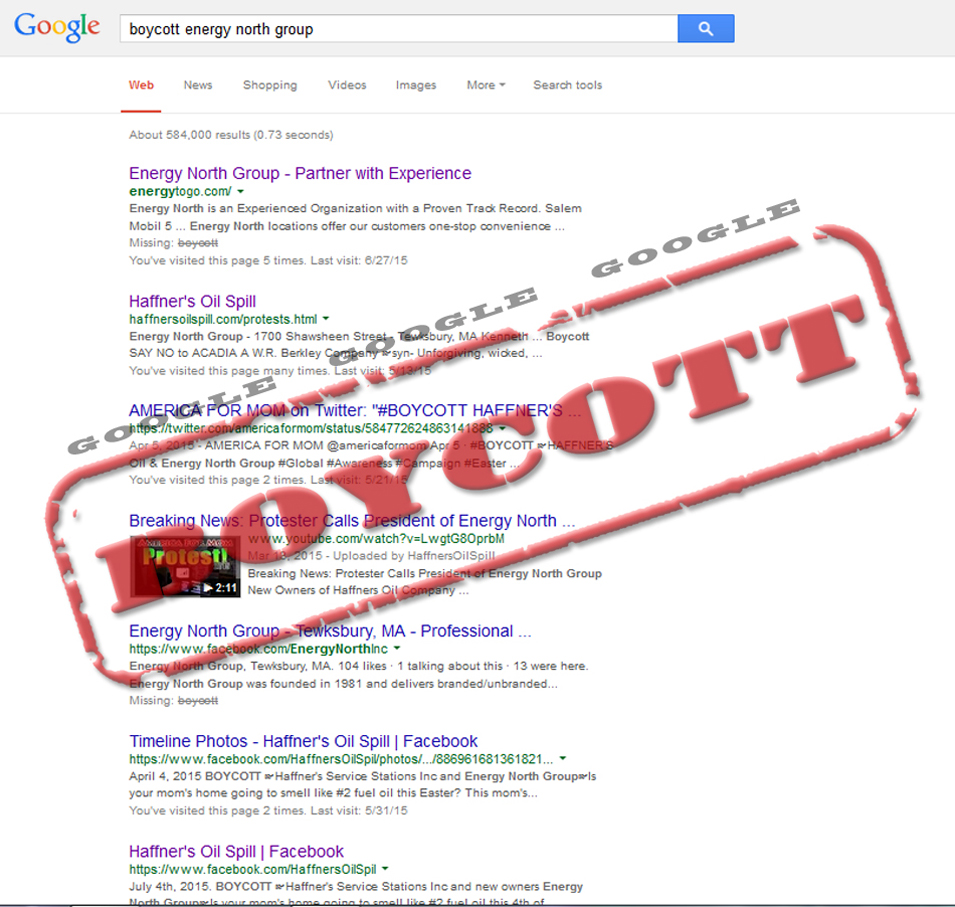 BoycottEnergyNorthGoogle