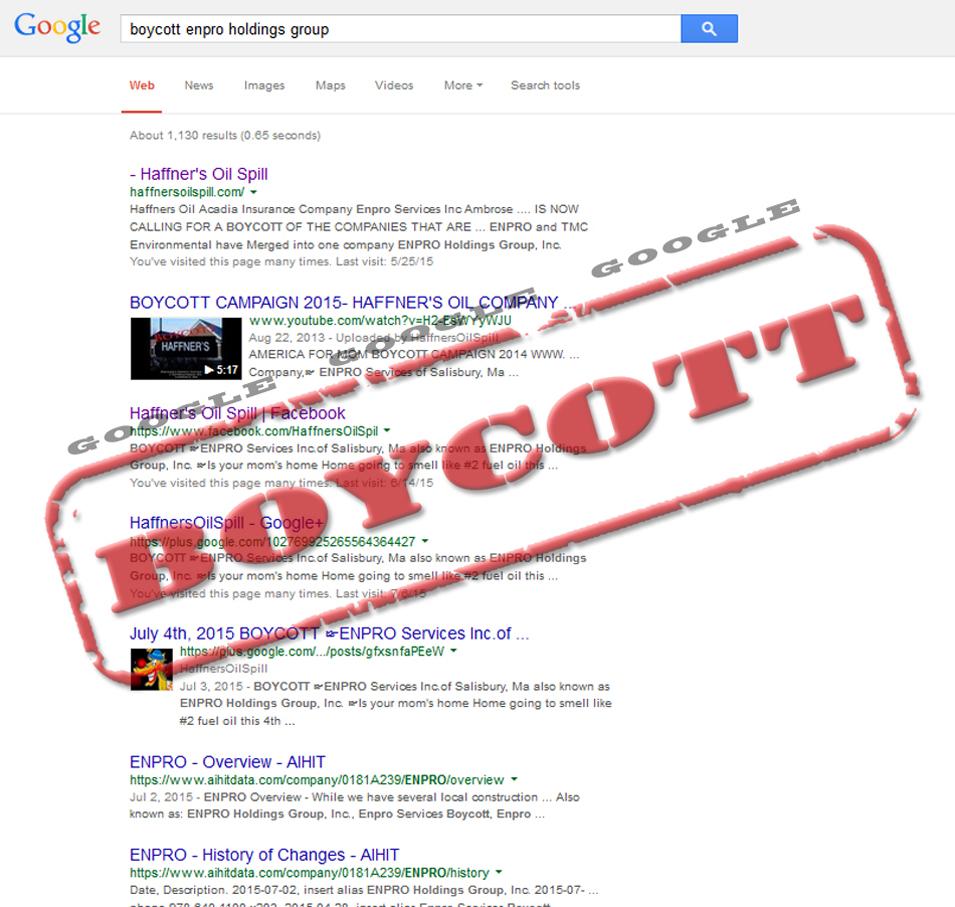BoycottEnproHoldingGoogle